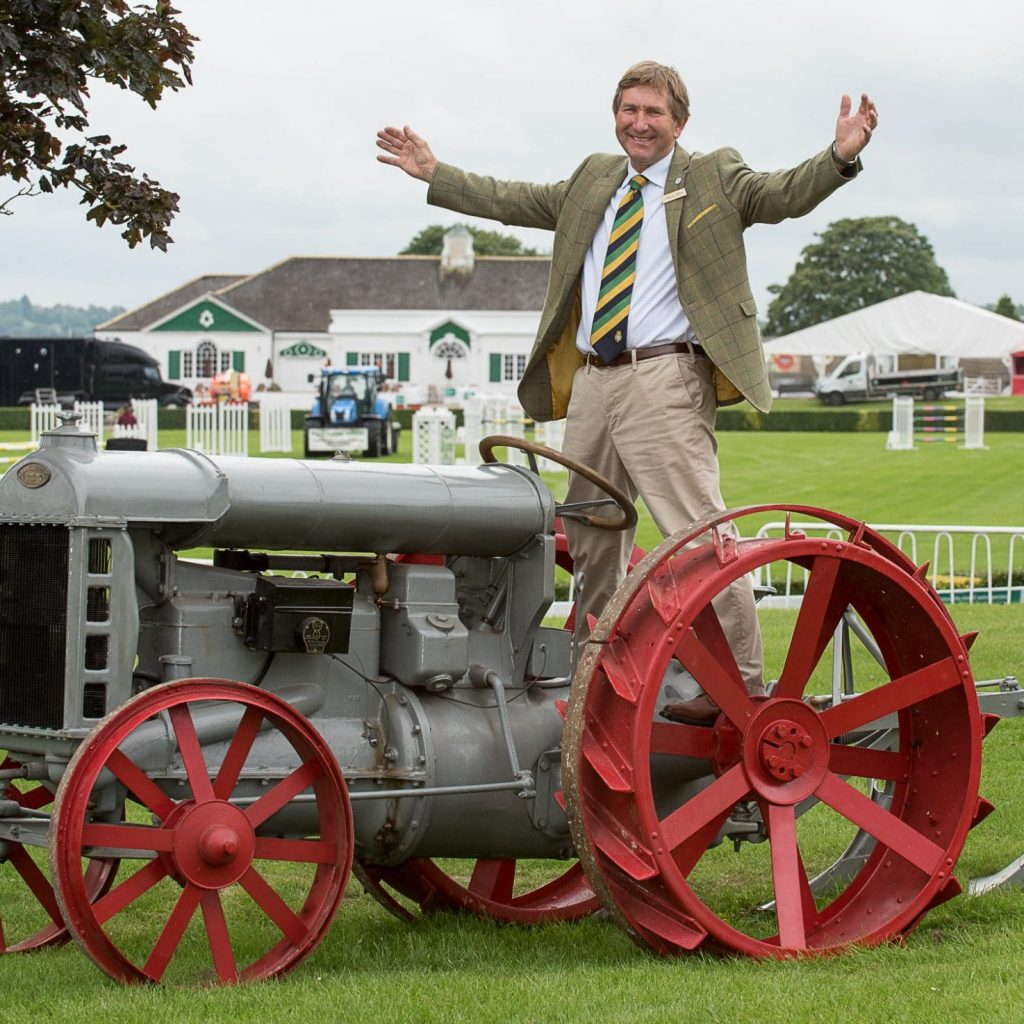 Charles Mills with a Fordson Tractor Celebrating 100 years at the Yorkshir Show