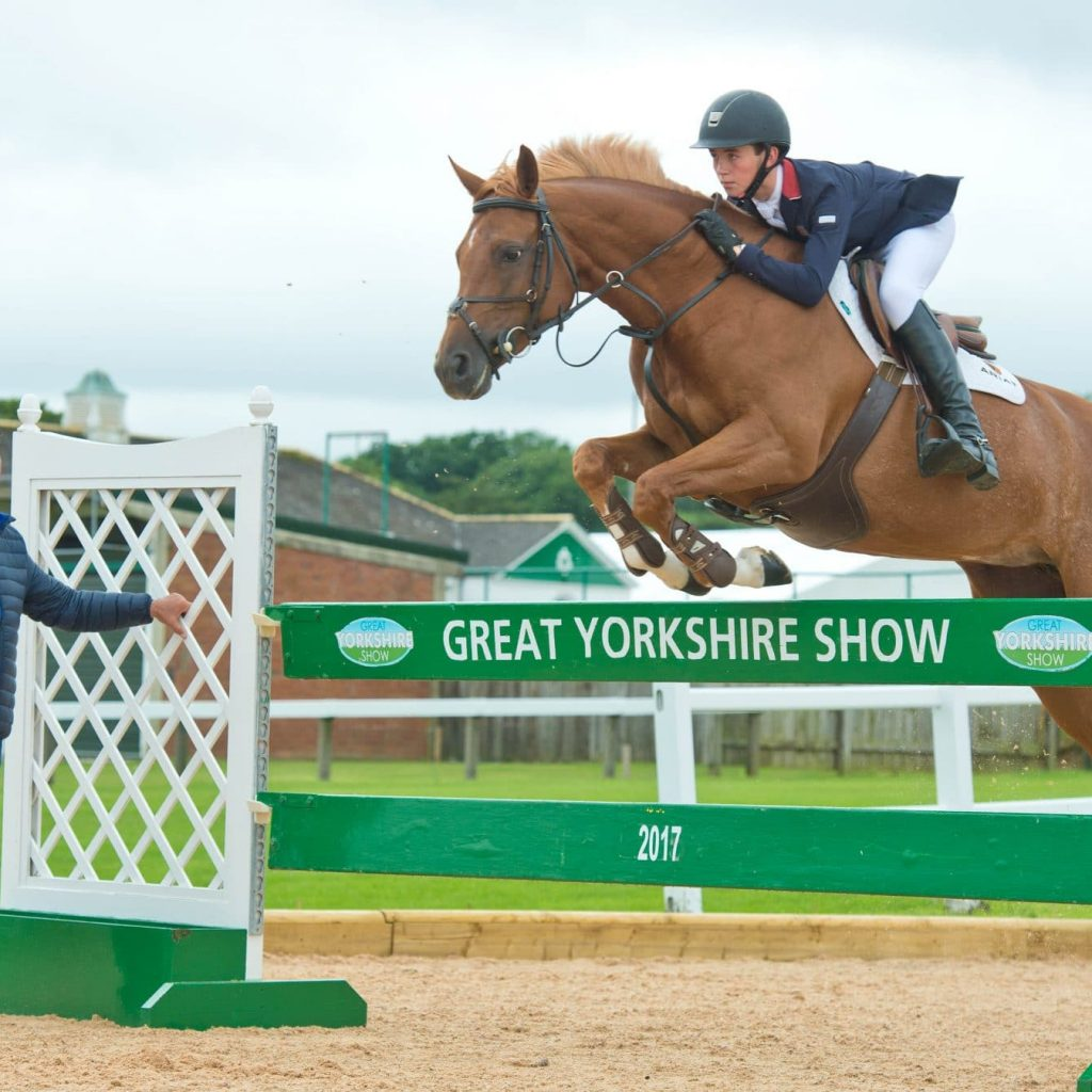 Graham Fletcher & son Oliver in the new olympic standard facilities at the Yorkshire Show
