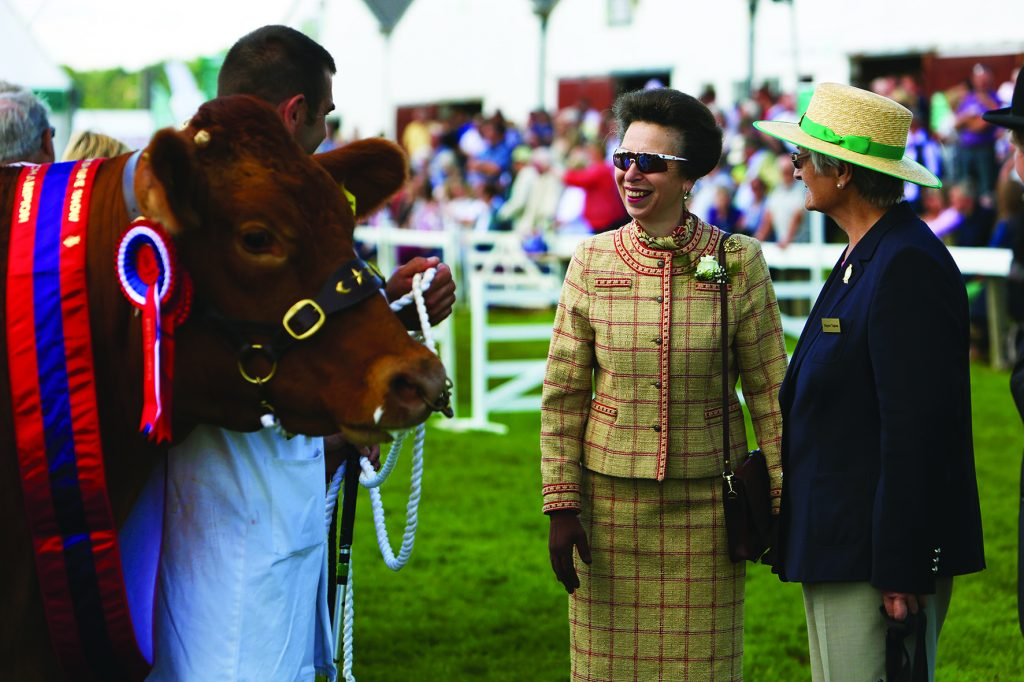 HRH Princess Anne visiting the Great Yorkshire Show in 2014