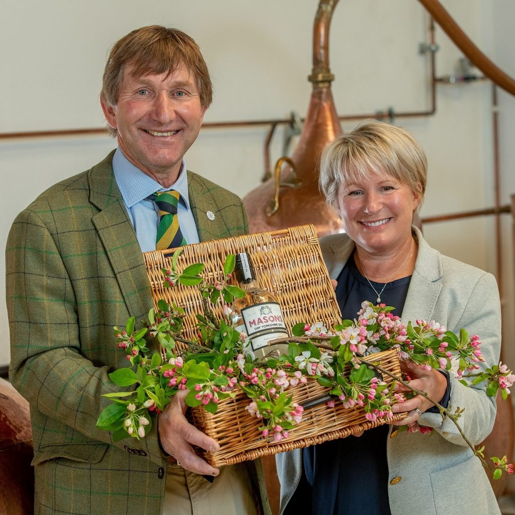 Great Yorkshire Show Director Charles Mills with Cathy Mason