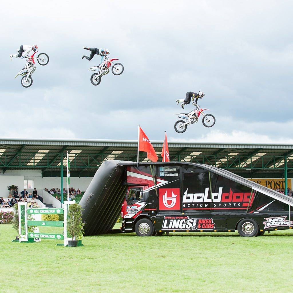 Bolddog Lings Motorcycle Display Team at Great Yorkshire Show