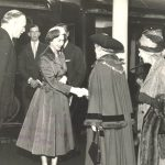 1957 HM The Queen arriving in Harrogate for Great Yorkshire Show