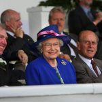 2008 HM The Queen in the Main Ring Grandstand at the Great Yorkshire Show
