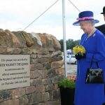 2008 HM The Queen unveiling a plaque to commemorate the start of work on the Regional Agricultural Centre