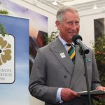 2011 HRH Prince of Wales makes a speech at the Princes Countryside Fund stand at the Great Yorkshire Show
