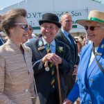 2018 HRH The Princess Royal visits the 160th Great Yorkshire Show with Margaret Chapman Chief Cattle Steward