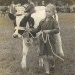 Young Exhibitor at the Great Yorkshire Show 1944
