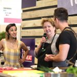 2018 Countryfiles Anita Rani with Harrison Barraclough from the Plum and Partridge