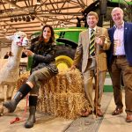 Julia Bradbury with Charles Mills and Peter Wright at Countryside Live 2019