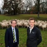Nuffield Scholar Alistair Tricket with Nigel Pulling CEO Yorkshire Agricultural Society